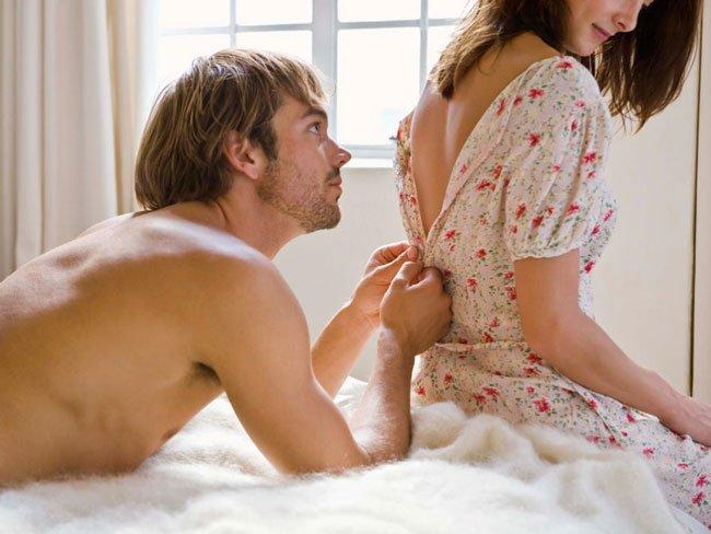 Секс без призерватива в начале
