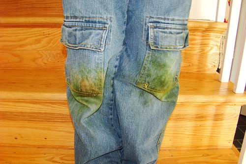 как убрать жирные пятна с джинсов