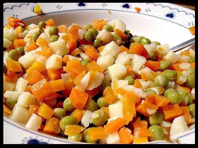 из варёной моркови Блюда