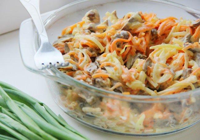 как приготовить салат с зелёным луком и сердцем говяжим