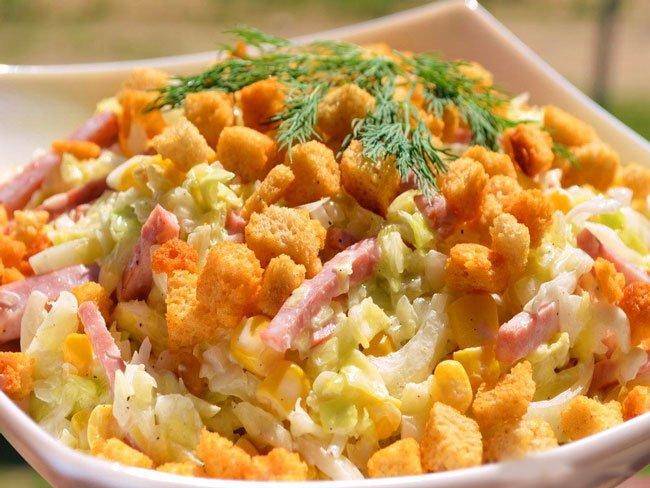 рецепты салатов с отварными овощами