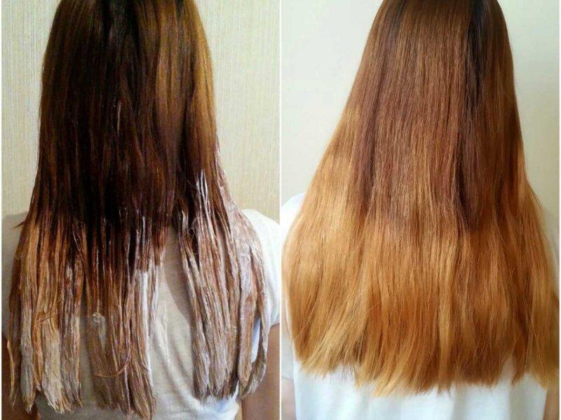 Как осветлить волос после окрашивания в домашних условиях 450