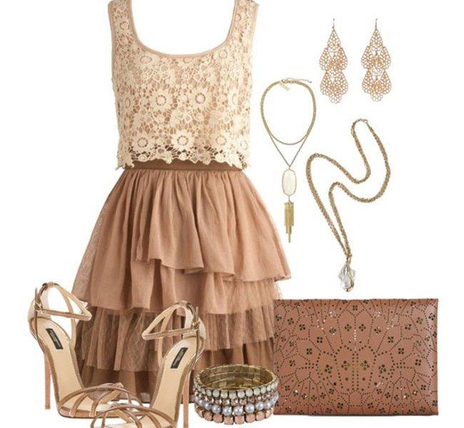 Аксессуары к коричневым платьям