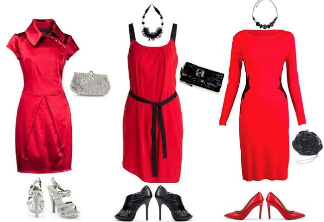 Что пойдет к красному платью