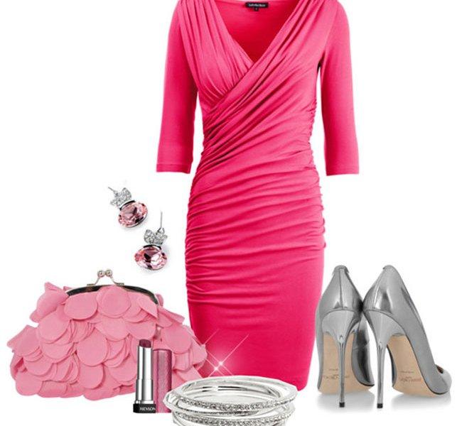 Какой пиджак подойдет к розовому платью
