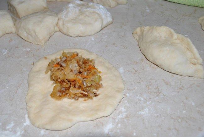 рецепт постных пирожков с капустой в духовке