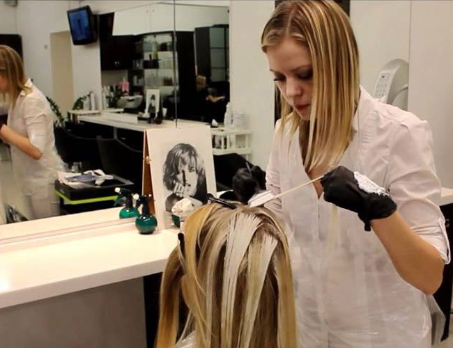 Мелирование волос техника выполнения