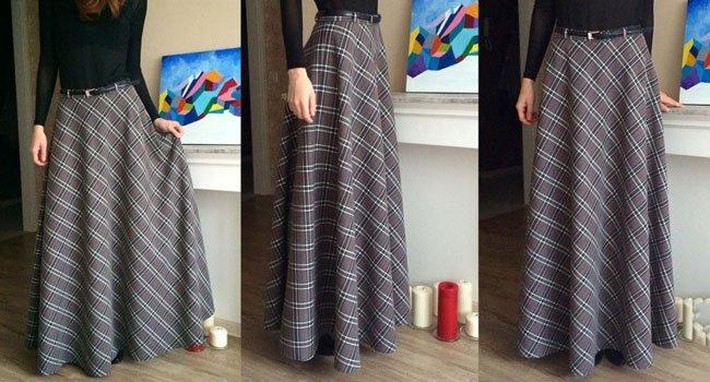 Длинная юбка из плотной ткани своими руками