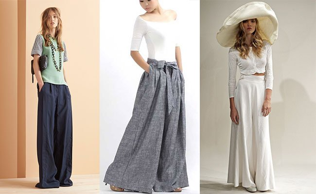 Фото женских брюк и юбок