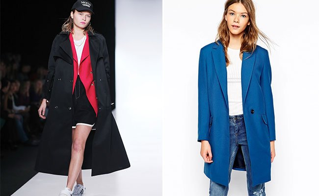 Фасоны женских пальто