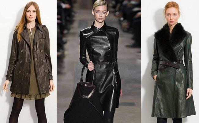 Фасоны кожаных пальто фото