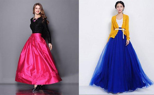 Модели блузок к длинным юбкам