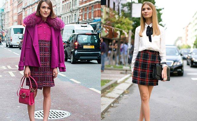 Модный юбка шотландка