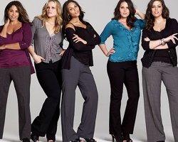 Модные брюки для полных женщин осень