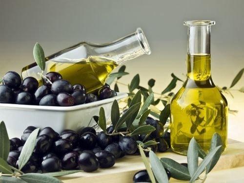 маска для волос из оливкового для блеска