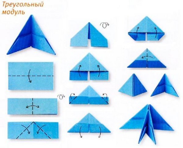 с модульным оригами