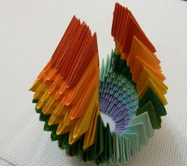 Как сделать модули из бумаги для лебедя 45