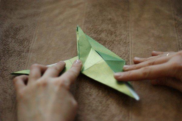 Снежинки из бумаги своими руками оригами схема