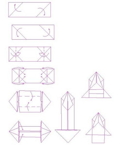 Машинка оригами из бумаги схемы для детей