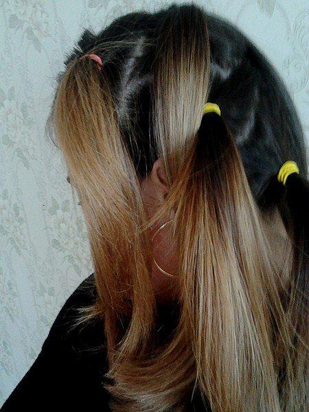 Как делают омбре на волосах