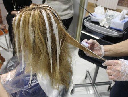 Как сделать брондирование волос дома видео