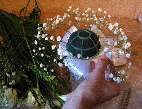 Свадебные букеты своими руками живые цветы