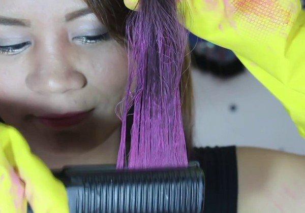 Чем сделать цветные пряди волос в домашних условиях