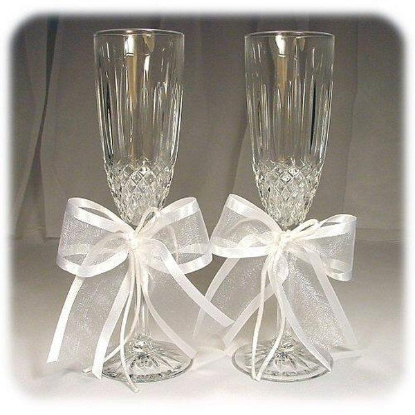 Как сделать свадебные бокалы на свадьбу