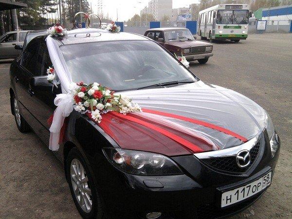 Украшение лентами свадебные машины своими руками фото