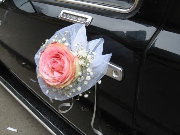 Цветы из лент на свадебную машину своими руками