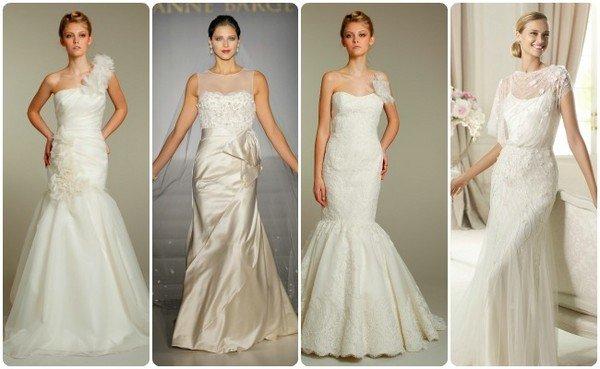 Свадебное платье цвета слоновой кости - айвори (фото)