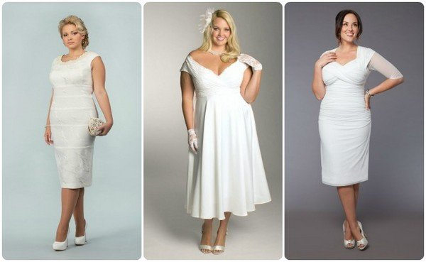 Платья свадебные короткие фото на полных