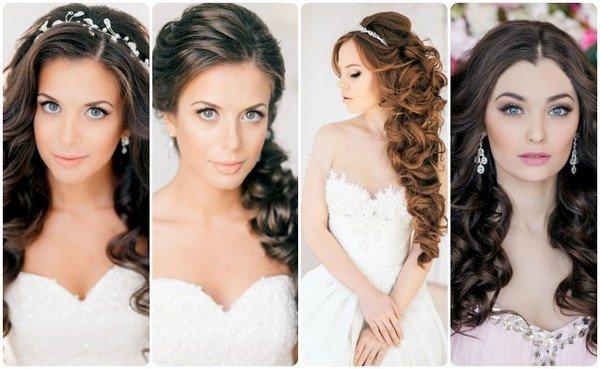 Прически на средние волосы без челки на свадьбу