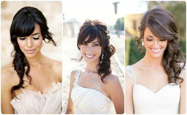 Какую сделать причёску на свадьбу с чёлкой