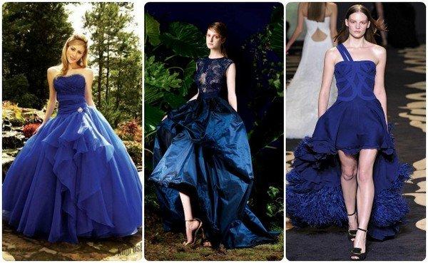 фото синее свадебное платье