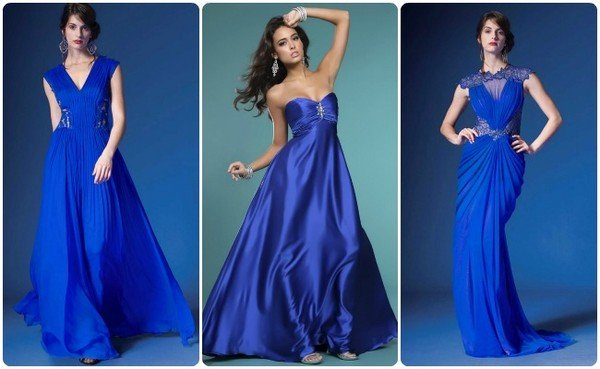 Темно синее свадебные платья