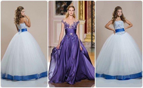 Синее свадебное платье купить