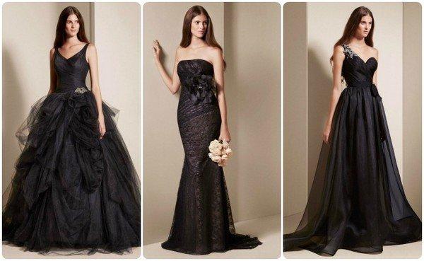 Черные платья на свадьбу