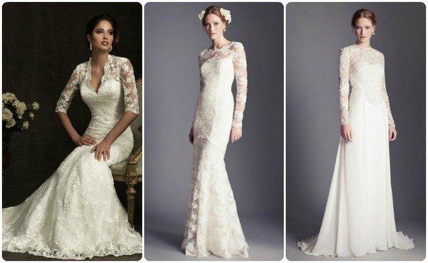 Фасоны платьев для венчания