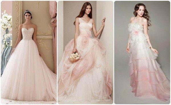 Как выбрать свадебное платье по цвету