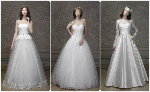 Девушки с короткими стрижками в свадебных платьях