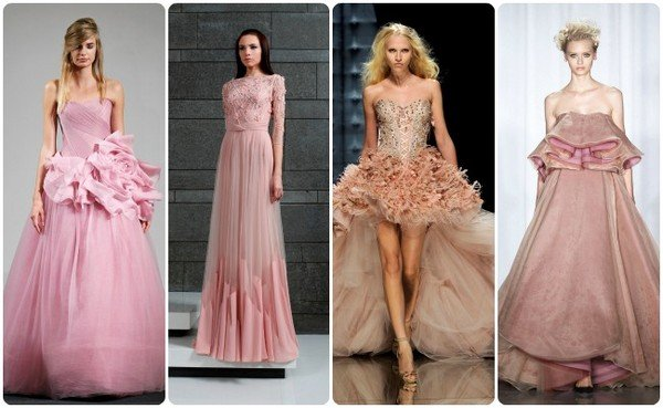 Фото бледно-розовых платьев