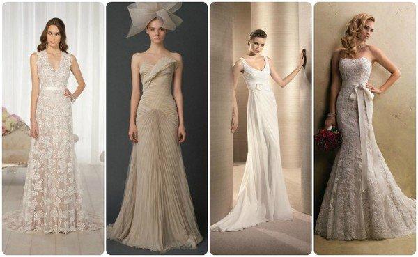 Свадьба платье молочного цвета