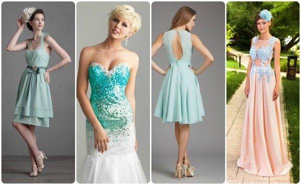 Платья на свадьбу для невесты короткие