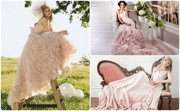 Свадебное платье с розочкой