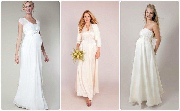 Какое свадебное платье подойдет беременным