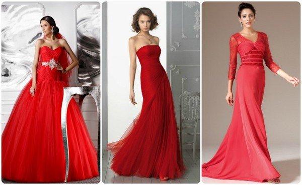 На свадьбу в красном платье