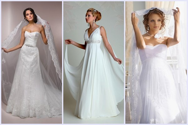 Венчальные скромные платья