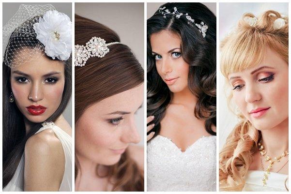 Прически с распущенными волосами на свадьбу