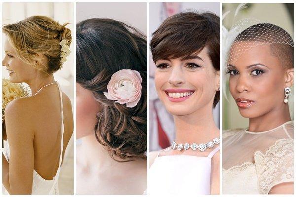 Причёска на короткие волосы фото на свадьбу
